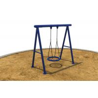 Outdoor Childrens Swing Sets , Swing Play Sets For Kids Blue,Childrens Garden Swing Sets Manufactures