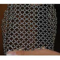 304 Stainless Steel Chainmail Scrubber Kitchen Cast Iron Hardware Cleaner 7 * 7 inch Manufactures