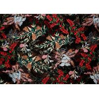 DTM Floral Embroidery Multi Colored Lace Fabric For Show Dress Eco Friendly Manufactures
