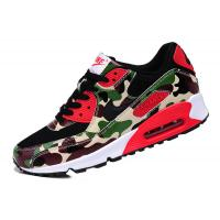 Quality Sell authentic Nike AIR MAX 90 couples running shoes Camouflage green men's women's shoes for sale