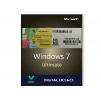 Quality Original Windows 7 Product Key Codes License Ultimate 32/64 Bit Online Activation for sale