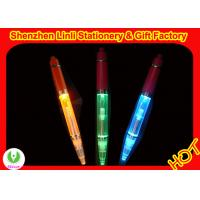 2011 competitive price Promotional Customized tap LED flashing lights ball pen