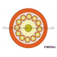China 12 Pair G651 / G652 Indoor Fiber Optic Cable With 2.0mm Simplex Fan-Out And FRP on sale