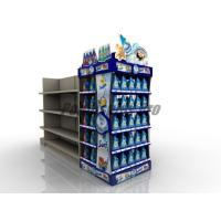 Curved Shelf Sustainable End Cap Shelving For Promoting Laundry Detergent Manufactures