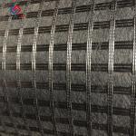 50 Kn - 100 Kn Asphalt Reinforcement Geogrid Biaxial Fiberglass Bitumen Coated Manufactures