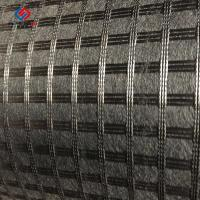 China 50 Kn - 100 Kn Asphalt Reinforcement Geogrid Biaxial Fiberglass Bitumen Coated on sale