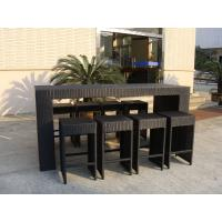Resin Wicker Bar Set With Power Coated Aluminum Or Steel Frame Manufactures