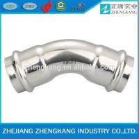 China stainless steel pipeline factory press fitting 45 degreed elbow on sale