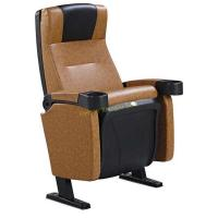 High - End Faux Leather PP Panel Movable Arm Cinema Theater Seats Reclined Back Customized