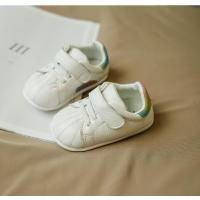 China new style white baby shoes sport walking genuine leather shoes lovely pattern good quality on sale