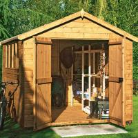 8x10ft metal shed made from pre-painted hot dipped Manufactures