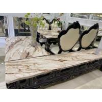 China Artificial Marble Top Oak Coffee Table Set For Dining Room No Deformation on sale