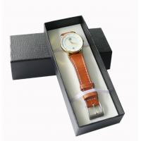 Rigid Paper Packing Box Leatherette Personalized Gift Boxes For Base Watch