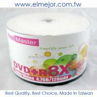 China UniMaster Taiwan A+ GRADE DVD+R 8X 4.7GB Recordable Disc on sale