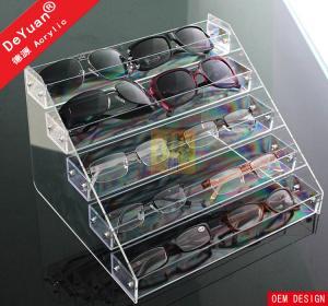 China Wall Mounted Sunglass Display Rack 5 Tier Transparent Acrylic Sheet on sale