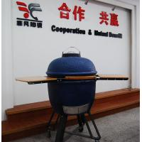 Safety Heat Resistant 20 Inch Oval ceramic Big Green Egg Oven / Grill With Table Manufactures