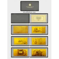 custom new 5 aud 24k plated gold banknote coa for value collection of