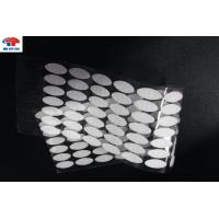 China Industrial hook and loop accessories White 20mm Glue Coin Adhesive backed wholesale