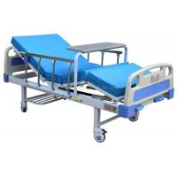 2 Function 2 Crank Manual Hospital Bed Comfortable With Dinning Table / Mattress Manufactures