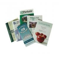 both sides glossy film laminated flyer printing, glossy paper booklets, brochure printing with your own design