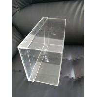 China OEM Logo Printing Clear Acrylic Sneaker Shoes Box Display With Lids on sale