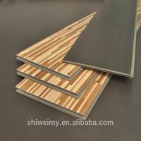 Mixed colors grid design modern flat wooden texture laminating flooring Manufactures