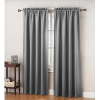 140 GSM Metal Color 2 Panel Blackout Window Curtains For Living Room Manufactures
