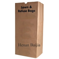 China Heavy Duty Lawn And Leaf Large 25kg Garden Waste Paper Bags on sale