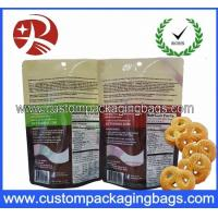 China Custom Printed Foil Laminated Stand Up Pouches / Ziplock Bags With Bottom Gusset on sale