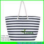 LUDA striped women handbags fasion paper straw beach handbags Manufactures