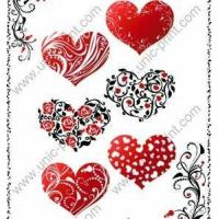 Hearts Temporary Tattoo Sticker/Decal for Valentine
