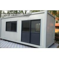 Japanese type modified container house mobile modular homes with steel plate blending wall for - Hive modular x line container home in canada ...