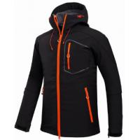 China Custom Mens Waterproof Softshell Jacket Grey O Neck Type For Outdoor Camping on sale