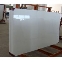Polished Nano Glass Tile Shower Walls With Artificial Stone Straight Edge Finished Manufactures