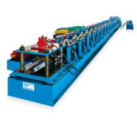 Two Waves Or Three Waves Guardrail Roll Forming Machine With PLC Control For Color Steel Manufactures