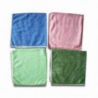 Microfiber Cleaning Cloths, Customized Colors, Logos, Packaging Ways and Sizes are Accepted Manufactures