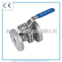 China China supplier stainless steel cf8m/cf8 2PC Flanged ball valve on sale