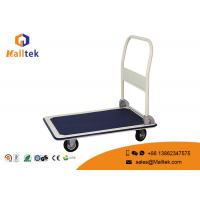 China 4 Wheels Industrial Logistics Trolley Flat Hand Push Trolley For Warehouse on sale