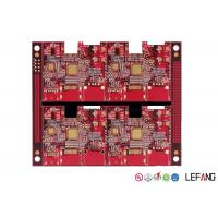 China Two Sided Red PCB Board , Immersion Gold Router PCB Board 105 Um / 3 Oz on sale