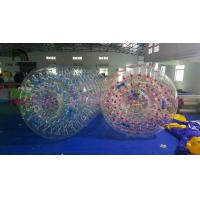 1.0mm PVC / TPU Funny Blow Up Water Toy Inflatable Cylindrical Roller Manufactures