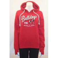 Custom Red organic Cotton Hooded Sweatshirt Long Sleeve for Sports , Running Manufactures