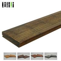 Natural Wooden Deck Flooring , Solid Bamboo Flooring Traditional Float Installed Type Manufactures