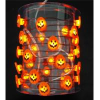 Halloween Pumpkin wire String Lights battery operated orang smd Led halloween lights Manufactures