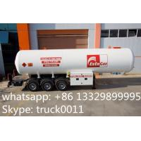 factory price 59.52m3 lpg gas propane tanker trailer for sale, hot sale 59520L bulk cooking gas transported tank trailer Manufactures