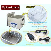 Quality Full SUS304 Benchtop Heating Digital Ultrasonic Cleaner 10 Liter With Basket for sale