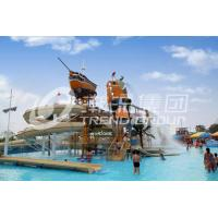 Colorful Outdoor Water Parks with Fiberglass Water Slides 29 x 27m Space Manufactures