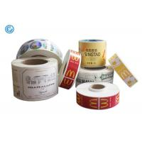 Varnish Surface Printed Self Adhesive Labels For Advertising ISO CE Waterproof Adhesive Labels Manufactures