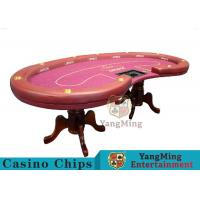 High Density Texas Holdem Poker Table , Casino Style Poker Table With Soft Touch Manufactures