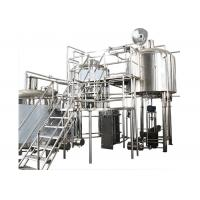 200 Gallon Stainless Steel Commercial Beer Making Equipment With Hot Liquor Tank Manufactures