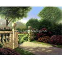 China Hand Painted Oil Paitning--The Gate of a Park on sale